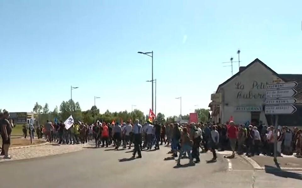 Акция протеста во Франции.