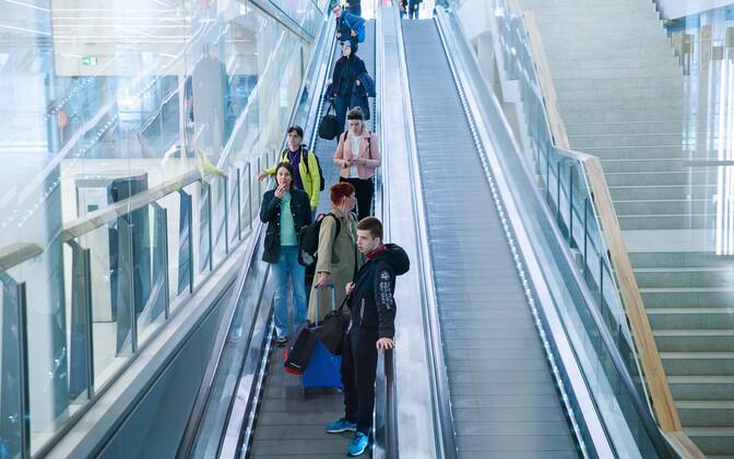 Finnish tourists return to Port of Tallinn.