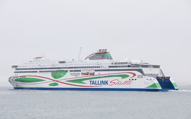 Tallink's Megastar, usually a passenger ferry, was used to transport cargo through most of the coronavirus pandemic.