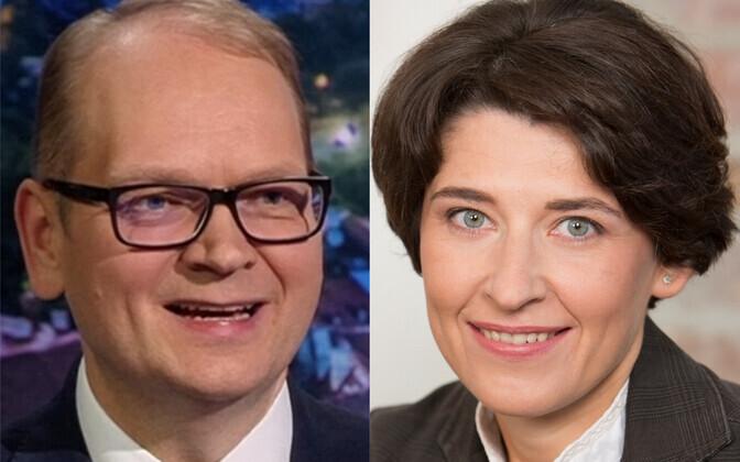 Новые послы в Норвегии и Грузии Лаури Бамбус и Рийна Кальюранд.