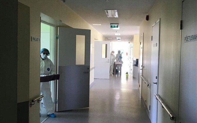 A coronavirus ward in Kuressaare Hospital during the pandemic.