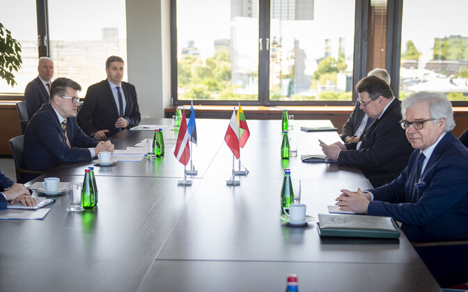 Meeting between Baltic countries foreign ministers and the foreign minister of Poland.
