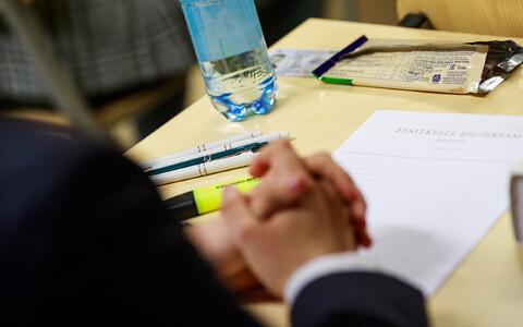 Õpilane eksamil.