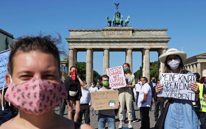 Kliimaaktivistid Berliinis.