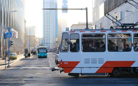Tram in Tallinn.