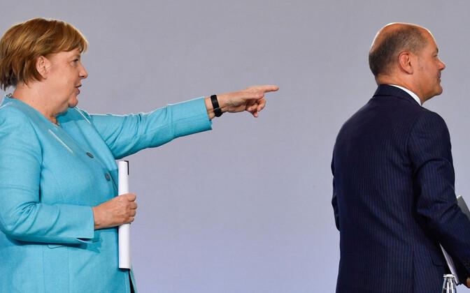 Ангела Меркель и Олаф Шольц.