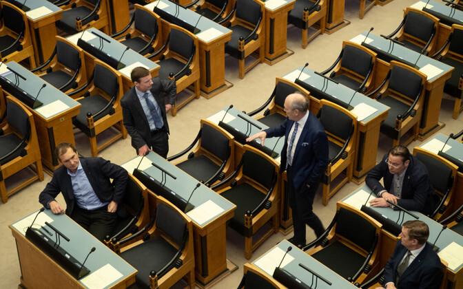 Riigikogu main chamber.