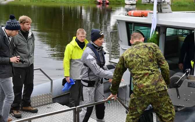 President Kersti Kaljulaid in Mustvee.