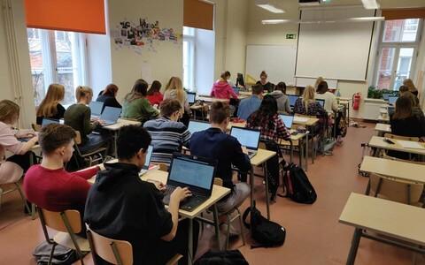 E-etteütluse kirjutamine Tartu Jaan Poska Gümnaasiumis möödunud aastal.