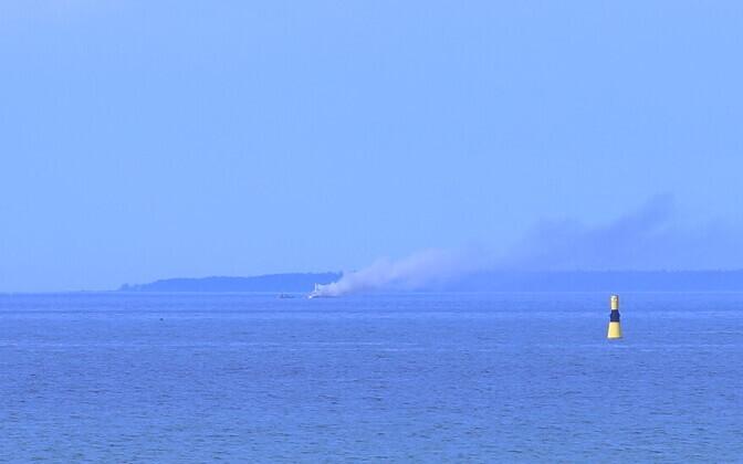 Tallinna lahel põles kaater
