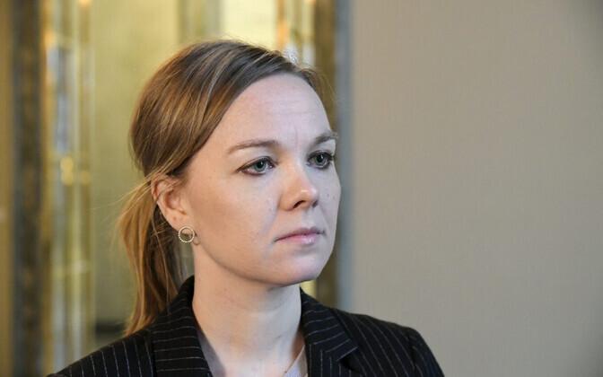 Soome rahandusministri kohalt tagasi astunud Katri Kulmuni.