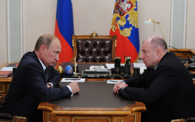Vene president Vladkimir Putin ja Nornikeli omani Vladimir Potanin.