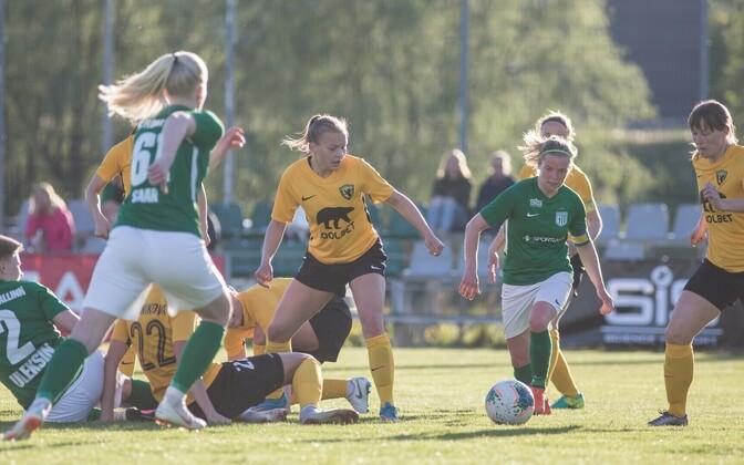 FC Flora ja Pärnu JK Vaprus naiste meistriliiga avavoorus