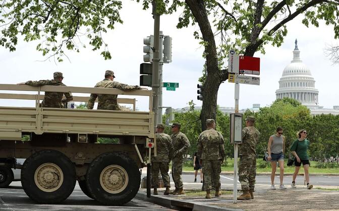 Rahvuskaardi sõdurid Washingtonis.