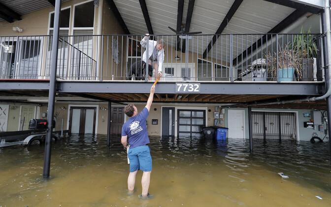 Üleujutus tormi eel New Orleansis.