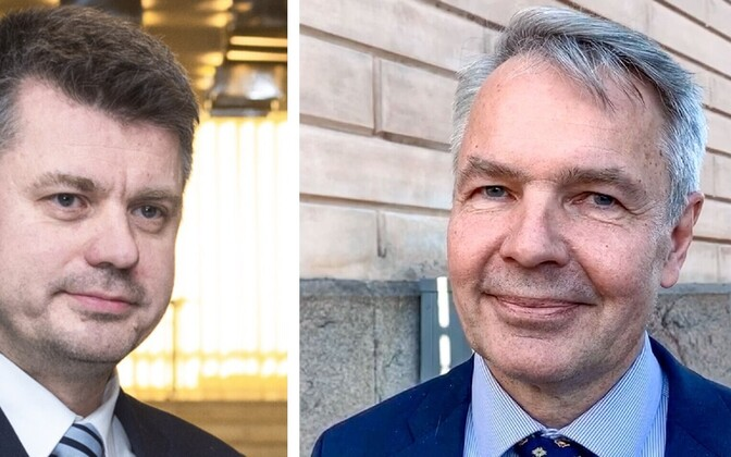 Ministers of Foreign Affairs Urmas Reinsalu (Isamaa) and Pekka Haavisto