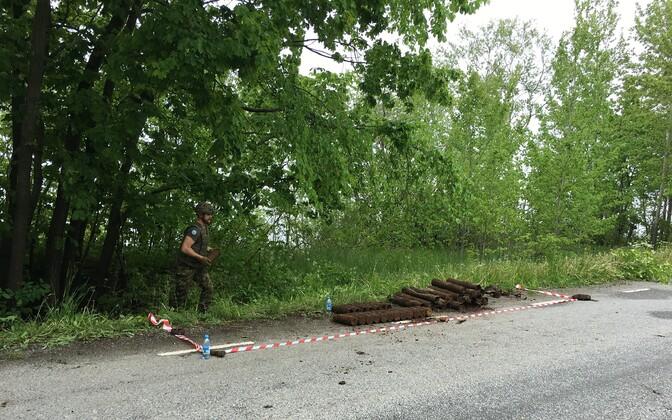 Ammunition near Valaste waterfall on Tuesday, June 9.