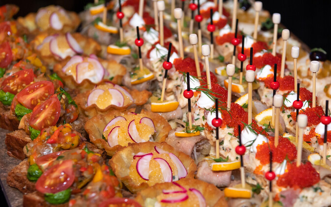 Hors d'oeuvres. Photo is illustrative.
