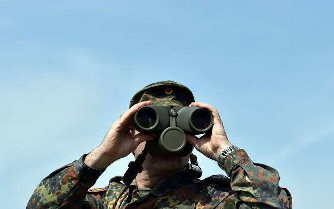 Austria sõjaväelane õppusel.