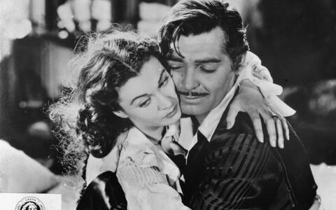 Kaader filmist, peaosaliste Vivien Leigh ja Clark Gableiga.
