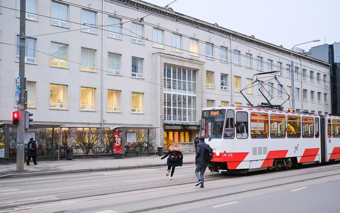 Tram on Narva Highway.