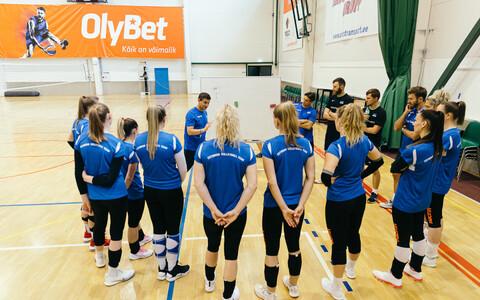 Naiste võrkpallikoondise treening