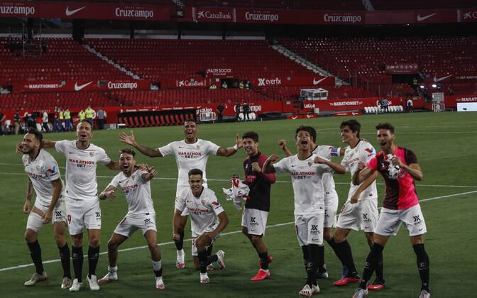 Võidukas Sevilla meeskond