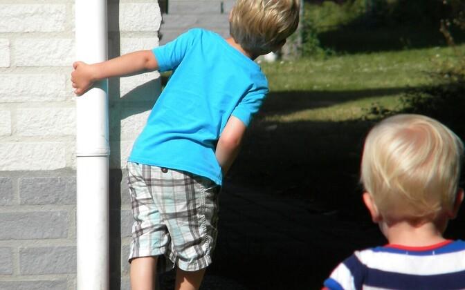 В перерыве между работами в саду можно, например, поиграть с детьми в прятки.