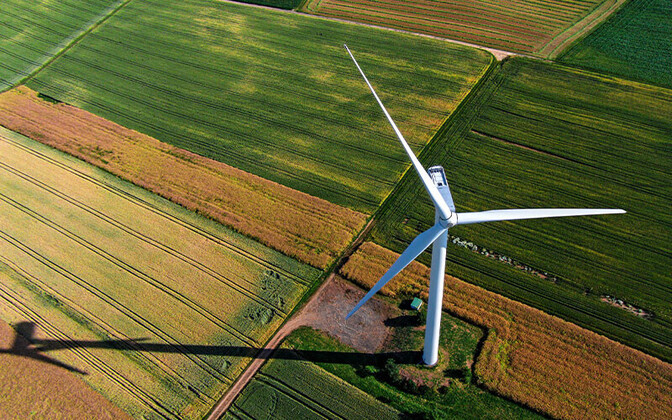 Enefit wind turbine. Photo is illustrative.