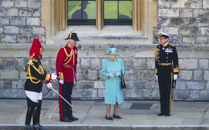 Kuninganna Elizabeth II tema sünnipäeva ametlikul tähistamisel Windsori lossis.