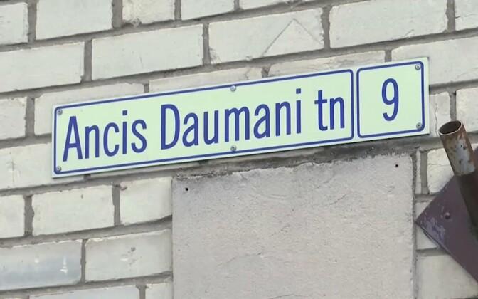 Ants Daumani Street in Narva.