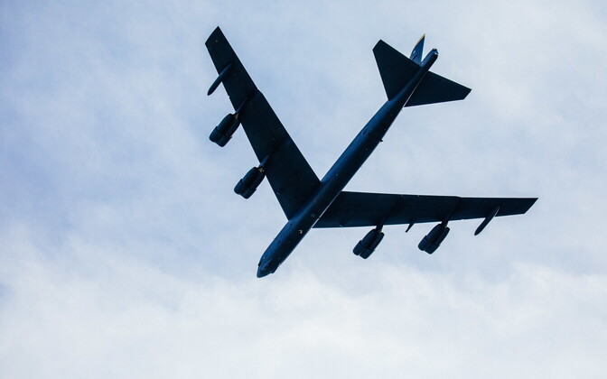 A US B-52 over Estonia earlier in the summer.