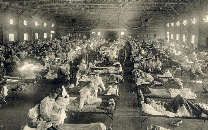 Hispaania gripi epideemia aegu.
