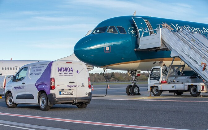 Magnetic MRO working on aircraft repairs at Tallinn Airport. Photo is illustrative.