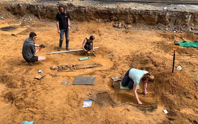 Раскопки в Силламяэ.