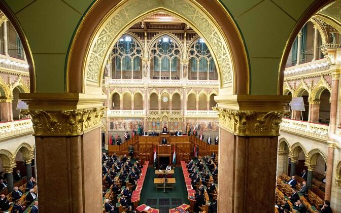Ungari parlamendi istungitesaal.