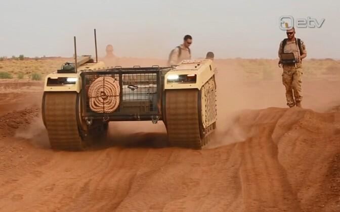 Беспилотная наземная машина Milrem Robotics.
