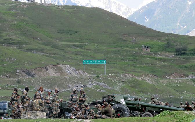 India sõdurid Ladakhi lähedal.