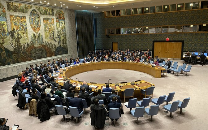 A pre-COVID 19 pandemic, face-to-face UN Security Council meeting in New York.