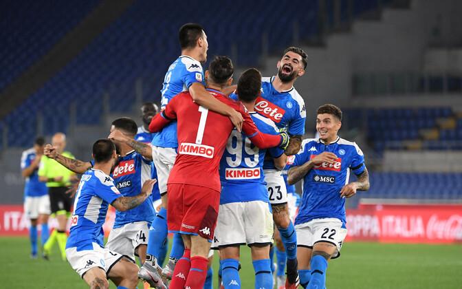 Juubeldavad Napoli mängijad