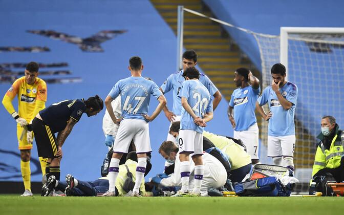 Vigastada saanud Eric Garcia ja Manchester City mängijad