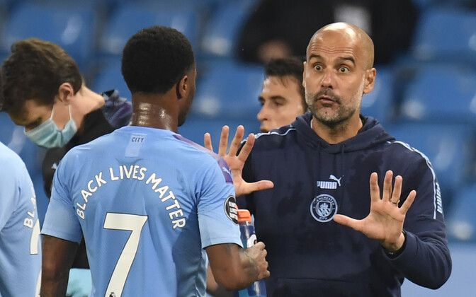 Raheem Sterling ja Pep Guardiola