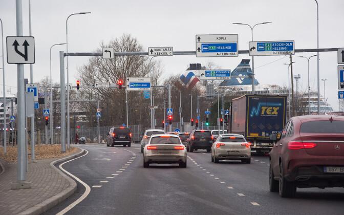 Traffic in Tallinn.