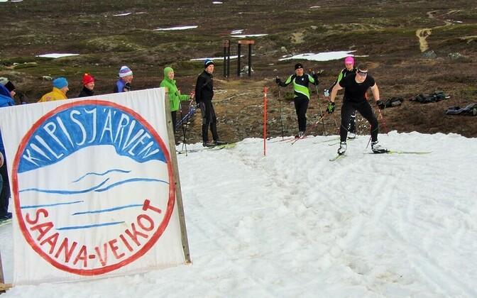 Лыжные гонки в Финляндии.