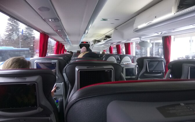 Interior of a long-distance bus (photo is illustrative).