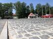 Закладка краеугольного камня центральной площади в Кярдла.