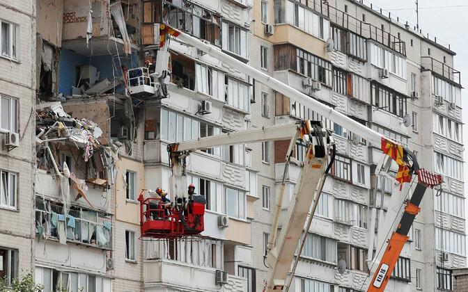 Взрыв в жилом доме в Киеве.