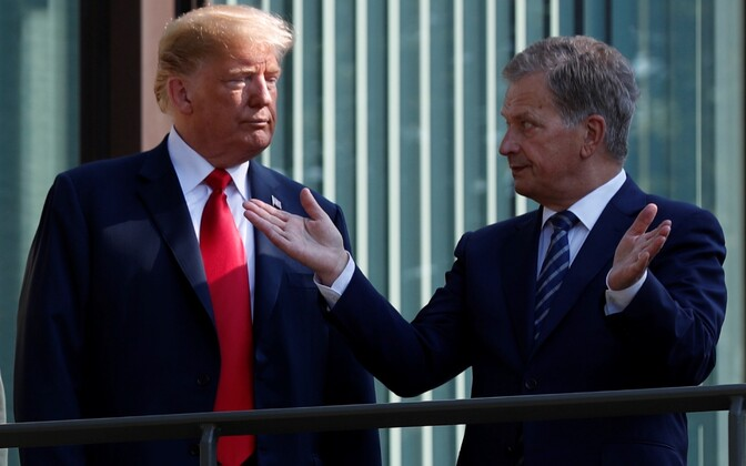 Trump ja Niinistö Helsingis.