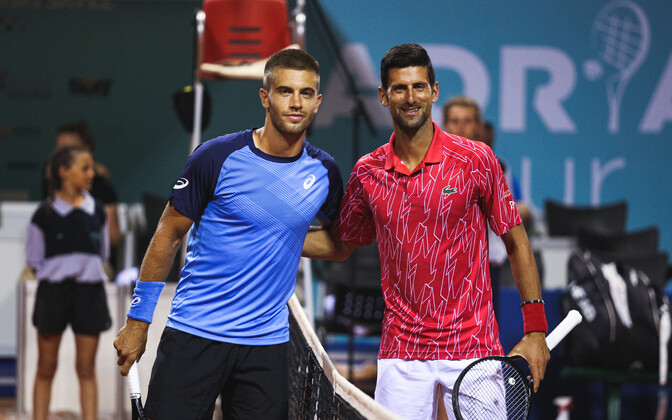 Borna Coric ja Novak Djokovic Zadari turniiril