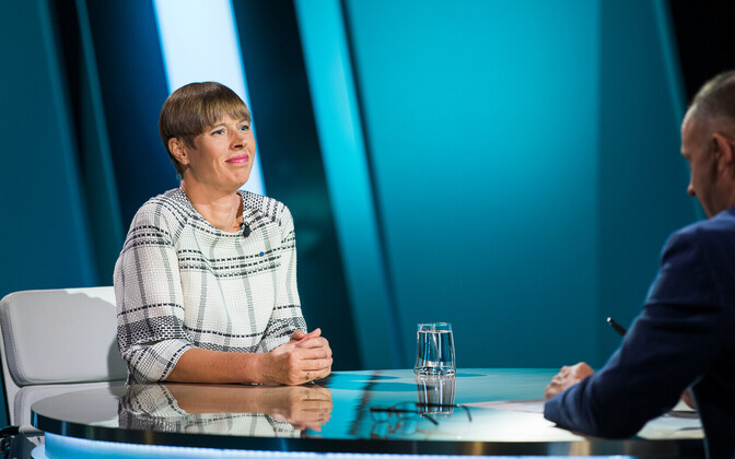 Kersti Kaljulaid on Tuesday's edition of